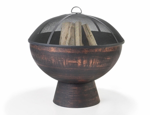 """26"""" Fire Bowl with Spark Screen by Good Directions"""