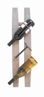 "26""H Wooden Metal Wine Rack with Spaciously Designed Holders  - 85987 by Benzara"