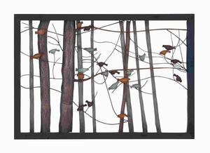 Classic Metal Wall Decor with Intricate Bird and Tree Motifs - 93744 by Benzara