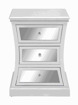 """28""""H Wood Mirror Cabinet with attractive Curved accents  by Benzara"""