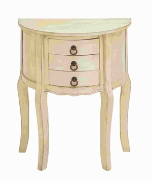 Wood Night Stand in Off-White Shade and Smooth Finish - 96219 by Benzara