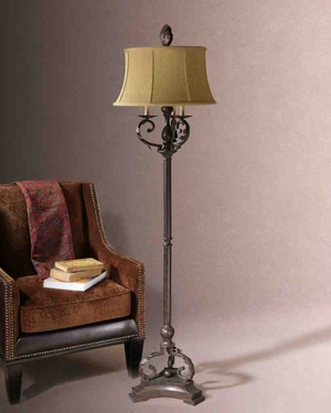 Buy 28871hope floor lamp golden brown black finish makes for Floor lamp for quilting