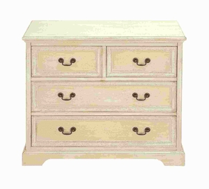 "29""H Wood Dresser with Stylish Brass Handles on The Drawers  by Benzara"