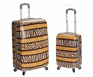 2Pc  Polycarbonate/Abs Upright Luggage Set