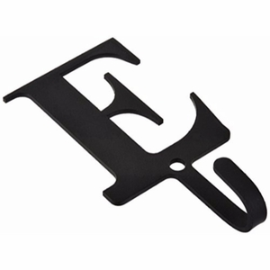 3.63 Inch Letter E Wall Hook Small