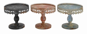Traditional Style 3 Assorted Metal Stand in Black Metal Finish - 50480 by Benzara