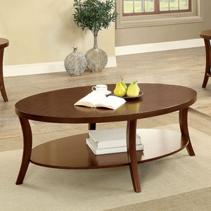 Paola Transitional 3 Piece Table Set , Brown Cherry