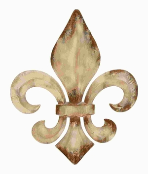 Decorative Metal Fleur De Lis Charm With Classic Style - 52789 by Benzara