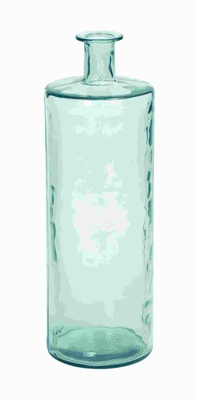 Stylish Glass Vase Cylindrical Shape with a Fluted Neck - 92979 by Benzara
