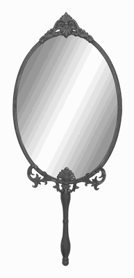 Unique Metal Wall Mirror with Intricate Carved accents - 93722 by Benzara