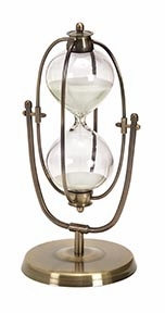 Metal/Glass 30 Minutes Hourglass Entertaining TableDecor - 58156 by Benzara