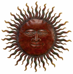 Metal Sun Wall Decor Catch The New Trend In Home Furnishing - 57752 by Benzara
