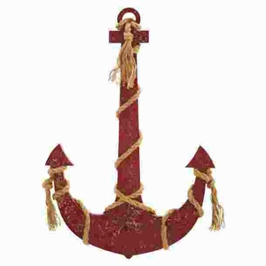 Rope anchor Smeared In Brownish Red Color - 50955 by Benzara