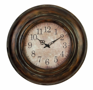 Metal Wall Clock Long Lasting Utility Product - 34805 by Benzara