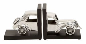Rare To Find Aluminum Bookend Set - 35260 by Benzara