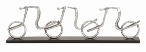 Beautifully Designed Aluminum Cycle Tabledecor - 35261 by Benzara