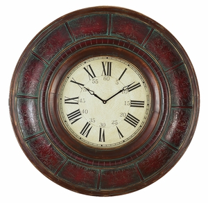 WOOD WALL CLOCK WITH 36 INCH DIAMETER - 89224 by Benzara