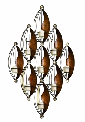 Metal Wall Votive Holder With 37 Inch Height - 13118 by Benzara
