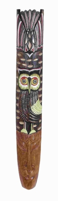 Mask Owl Motif For Modern And Conventional Style - 53712 by Benzara
