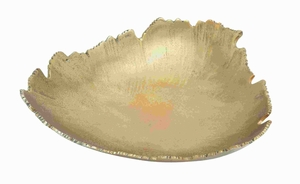 Aluminium Tray Abstract Leaf Design With A Jagged Edge - 27611 by Benzara