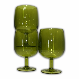 4 Pack - Green Wine Glasses - 8 oz by TAIB Inc