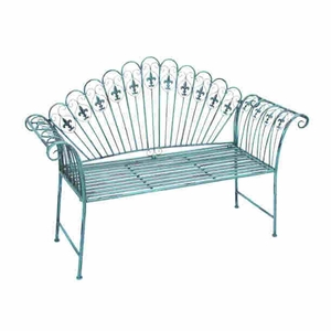 Metal Bench With Modern Or Conventional StyleDecor - 63384 by Benzara