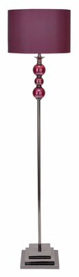 40102 Metal Glass Floor Lamp That Makes The Area Nicer - 40102 by Benzara