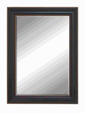Beveled Mirror Framed With Super Solid Resin Wood - 54577 by Benzara