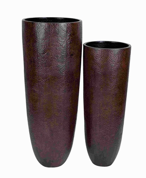 Vase With Wider Rim And Narrow Base - Set Of 2 - 53188 by Benzara