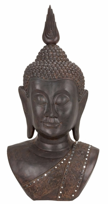 POLYSTONE BUDDHA BUST SYMBOL OF HAPPINESS - 44215 by Benzara