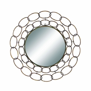 35 Inch Diameter Metal Mirror Excellent Anytime Wall Decor Upgrade - 48432 By Benzara