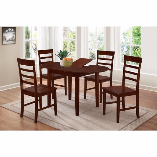 Buy 4d concepts bridgeport butterfly extension table for Wild orchid furniture