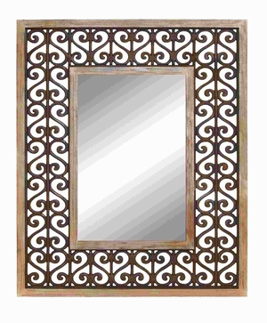 Long Lasting Wood Frame High Quality Mirror - 50933 by Benzara