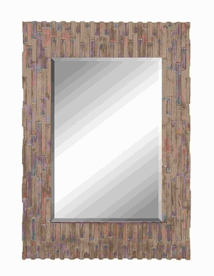 """50""""H Wood Frame Mirror With Suits Conventional And Modern Decor - 54325 by Benzara"""