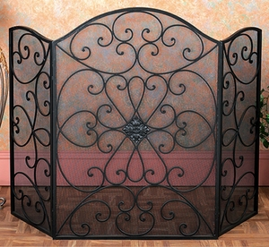 Metal Fire Screen Ultimate In Fire Protection Category - 21626 by Benzara