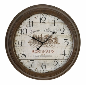 Metal Wall Clock Unique Aesthetic Appeal - 52500 by Benzara