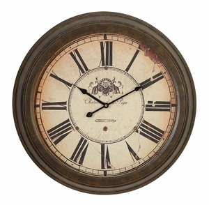Metal Wall Clock Dial Makes It Real Antique - 52502 by Benzara