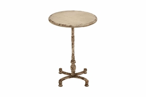 Wood Accent Table With Light Yellow- Brown Colors - 52714 by Benzara