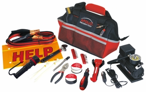 53 Piece Roadside/Emergency Tool Kit with Air Compressor