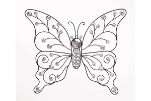 Metal Butterfly Brings Garden To Your Rooms - 53010 by Benzara