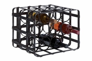 Metal Wine Rack Bold Style Statement - 54404 by Benzara
