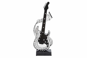Metal Acrylic Guitar 27 Inches High - 54602 by Benzara