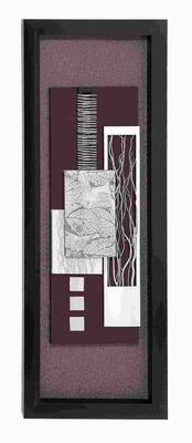 Wood Framed art with Silver Matte Finish - 97502 by Benzara