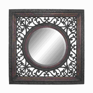 Frame Mirror in Glossy Finish with Artistic Design - 54324 by Benzara