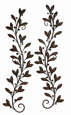 Metal Wall Decor Pair Attracts Every Nature Lover - 22937 by Benzara