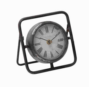Beautiful Metal Clock With Dark Frame - 56186 by Benzara