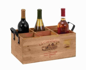 Wine Holder Simple In Design, Similar To A Tray - 56152 by Benzara