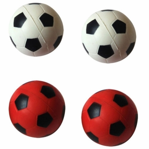 6 Pack Bouncing sponge football - Red/White - 12 Pieces