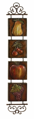 Metal Tile Wall Hanging For Everyone - 56410 by Benzara