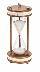 Metal/Glass 60 Minutes Hourglass 13 Inches High - 58159 by Benzara